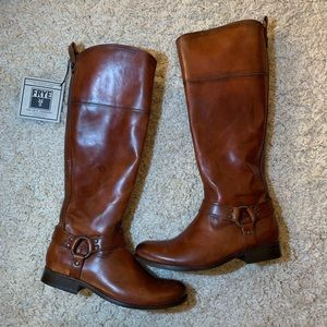 Frye Cognac Leather Boots